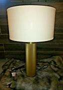 Restoration Hardware Utilitaire Knurled Table Lamp Lacquered Burnished Brass