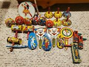 Vintage Noisemaker Lot - Us Metal Toy Mfg And Kirchhof - 26 Total Noisemakers