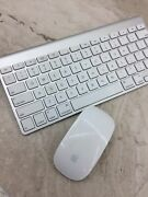 Genuine Apple Bluetooth Wireless Aluminum Keyboard And Mouse- Tested - Free Ship