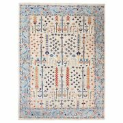 9and039x11and03910 Supple Collection With Tree Design Soft Wool Hand Knotted Rug G62206