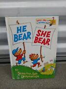 Vintage Dr. Seuss 1974 Hardcover Book He Bear She Bear Stan And And Jan Berenstain