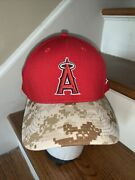 New Era Anaheim Angels 59fifty Fitted Hat Camouflage Lid La Angel Throwback L Xl