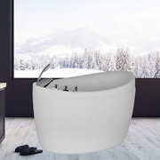 Freestanding Air Jets Bathtub Mirco Bubble Hydrotherapy Oval Japanese Spa Tub Wh