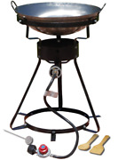 Portable Outdoor Cooker Propane Burner Camping Patio Gas Stove Heavy Duty And Wok