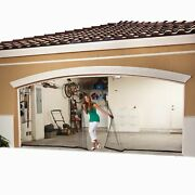 Double Garage Screen Door With Magnetic Center Snap Closure - 16'w X 7'l