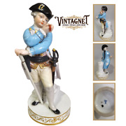 Rare Antique Original Porcelain Figurine Germany Meissen Marked Height 15.5cm