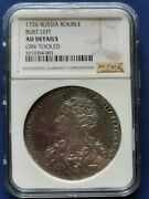 1726 Russian Empire1 Rouble Silver Coin Catherine I Bust Left Ngc Au-details