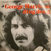 George Harrison Ding Dong 45 Rpm Vinyl Signed
