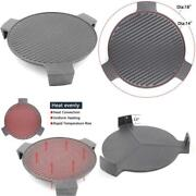 Hongso Cast Iron Plate Setter For Large Big Green Egg Grill And Other 18 Diamet