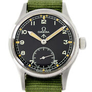 Omega 1944s Military Dirty Dozen W.w.w British Army Menand039s Vintage Wrist Watch