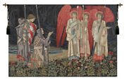 The Holy Grail Ii The Vision Left Panel European Tapestry Wall Hanging