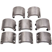 4x Steel Tube Clamp Bolt On 1.75 1 3/4 Roll Bars Cages Tubing Weldable