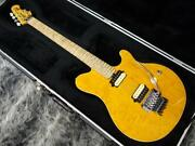 Music Man Axis Translucent Gold Made In Usa 2001 Electric Guitar A1436