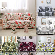 1x Printed Slipcover Sofa Covers Spandex Stretch Couch Cover Furniture Protector