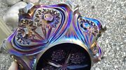 Imperial Carnival Glass Purple Zippered Heart Master Berry Bowl Wow