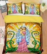3d Christ Our Lady Nao3030 Bed Pillowcases Quilt Duvet Cover Set Queen King Fay