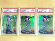 2016 Bowman Chrome Pete Alonso 1st Rookie Refractor Rc Lot 3 - All Psa 10