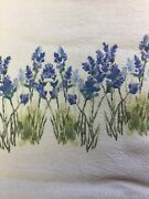 New Shabby Farmhouse Cottage Chic Lavender Fields Valance Topper Curtains
