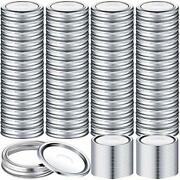 100 Pieces Canning Jar Lids And Bands Set Split Lids With Silicone Seals Rings..