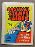 Rare 1970's Topps Unopened Test Pack Of Baseball Stamps And Album Higher Grade