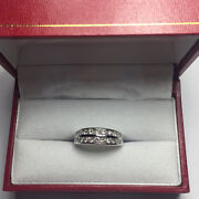 Genuine 1.56 Ct Diamond Eternity Rings Band Solid 14k White Gold Ring Size 7 6