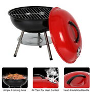 Portable Grill Bbq Smoker Outdoor Mini 14 Inch Charcoal Wood Grill Barbeque Oven