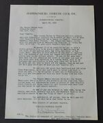 Babe Ruth 1939 Letter Requesting Appearance From Semi-pro Harrisonburg Va Club