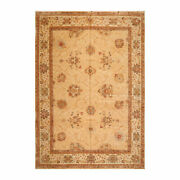 9and0394and039and039 X 12and0398and039and039 Hand Knotted 100 Wool Rare Egyptian Oushak Area Rug Tan Beige