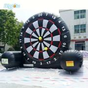 Inflatable Foot Dart Board Golf Game Soccer Kick With Air Blower