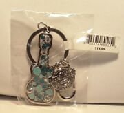 Hard Rock Cafandeacute - Mosaic Guitar Keychain Mystery Color - Indianapolis Green