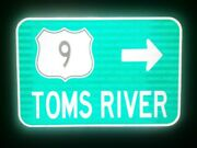 Toms River New Jersey Route Road Sign 18x12 Manhattan New York