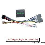 For 2008–2018 Jeep Wrangler Jk Car Stereo Radio Android Wiring Harness Connector