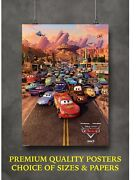 Cars Disney Classic Movie Art Large Poster Print Gift A0 A1 A2 A3 A4