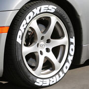 Toyo Tires Proxes - White Tire Lettering - 1.50 For 17 18 Wheels - Permanent