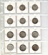 Greece - Lot Of 12 Silver Coins .10 And 20 Draxme -1930- Special Cualidet 6+6