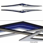 Larson 2007 Main Boat Decal 0572971m | Blue/black/silver/white/pewter Set Of 2