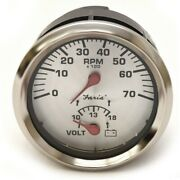 Faria Boat Multifunction Gauge Gtc047a   Tachometer Volt 3 1/4 Inch