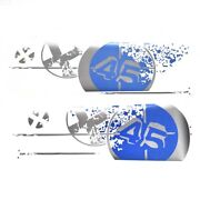 Mastercraft Boat Brand Decal 750285   2008 X-45 Blue Silver Set Of 2