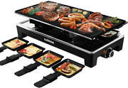 Cusimax Raclette Grill Electric Grill Table, Portable 2 In 1 Korean Bbq Grill And