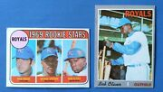 2 Ex-nm Topps Bob Oliver Royals Baseball Cards 1969 662 Rookie And 1970 567