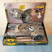 Batman Batmobile And Batboat 2-in-1 Transforming Vehicle Kids Toy Collectible New