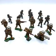 Lot Of 15 Barclay Lead Pod And Dimestore Doughboy Figures Ww 1 And 2 Original