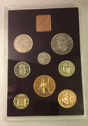 1970 British Crown/shilling Proof Set Uncirculated Mint Case Coa Coin Collection