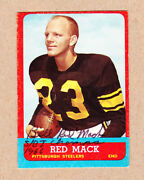 Bill Red Mack Signed 1963 Topps Sp Rookie Card125-pittsburgh,notre Dame Dec
