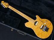 Music Man Axis Trans Gold Made In Usa 1998 Quilted Maple Top A1531