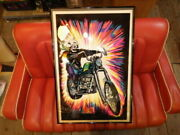 Blow 70 S High Ryder Black Light Posters Art Scull Chopper Harley Vintage Psych