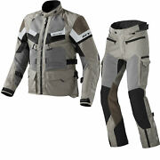 Rev It Cayenne Pro Motorcycle Jacket Pants Sand Kit Armoured Mesh Summer Outfit