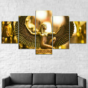 Isis Goddess Egypt Wing 5 Panel Canvas Print Wall Art Poster Home Decoration