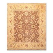 8and0391 X 9andrsquo11 Hand Knotted Peshawar Stone Wash 100 Wool Oriental Area Rug Brown