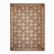 12and039 X 18and039 Asmara Hand Woven Wool French Needlepoint Oriental Area Rug Chocolate